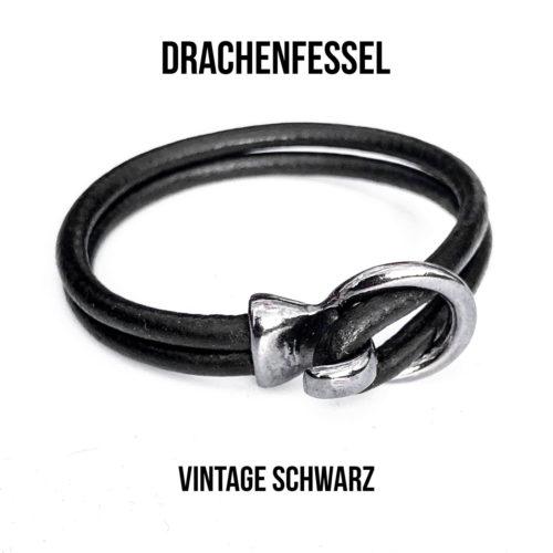 Drachenfessel vintage-schwarz