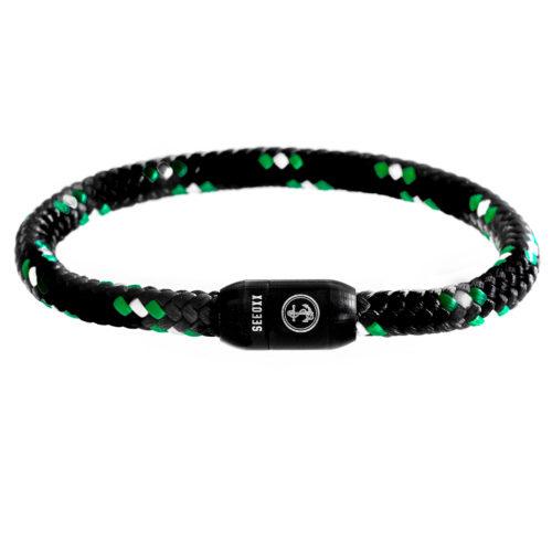 SEEOXX Armband schwarz weiß grün jupp 6mm schwarz