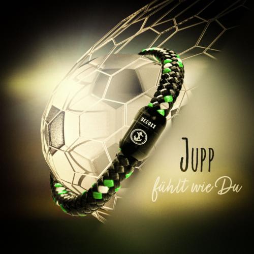 Jupp3 schwarz weiss grün Armband